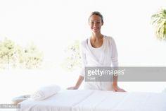 ストックフォト : Smiling Massage Therapist at Massage Table