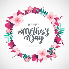 Modern happy mother's day floral background Free V Mother's Day Background, Gold Glitter Background, Flower Background Wallpaper, Vector Background, Happy Mothers Day Pictures, Happy Mother Day Quotes, Mothers Day Cards, Free Poster, Free Printable Cards
