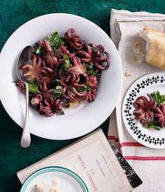 Braised octopus with oregano