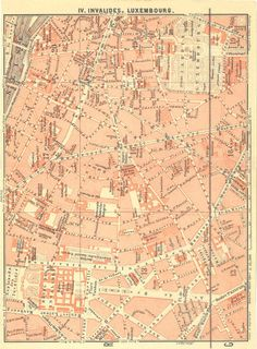 1925 Hamburg and Altona City Plan Street Map Port Germany