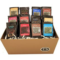 Coffee Gift Baskets - Indulgent Selection Gift Box. Give this impressive gift filled with a selection of our best roasts and flavored coffee.
