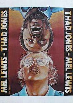 Diseñador: Olbinski Rafal   título del cartel: Mel Lewis - Thad Jones   año de cartel: 1978   nacionalidad cartel: Polaco   técnica de impresión: offset   Tamaño en cm: 80,5x57,5 pulgadas: 32 x 23,2   objeto: jazz | © RAFAL OLBINSKI