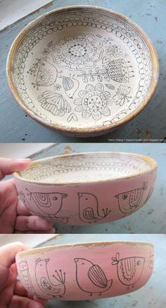 wooden doodle bowl (SOLD) | Flickr - Photo Sharing!