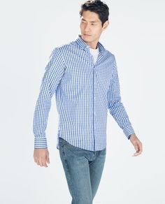 Image 2 of GINGHAM CHECKED SHIRT from Zara