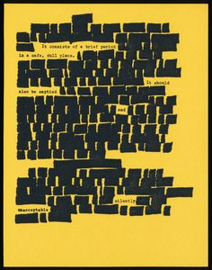 """by Wharton Hood.  """"Los Angeles"""" [ie Toronto], Utopic Furnace Press, nd [5 march 199o]. [88 copies].   4-1/4 x 5-1/2, photocopy postcard.   a concrete poem on face of address change announcement."""