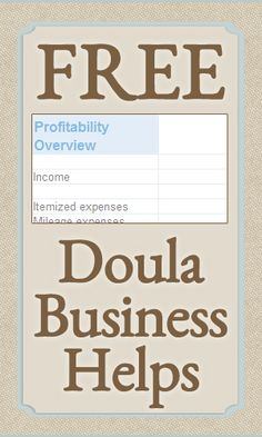 Free Doula Business Helps
