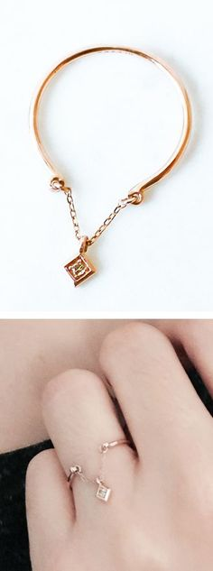 MUST SHARE Delicate chain diamond ring...