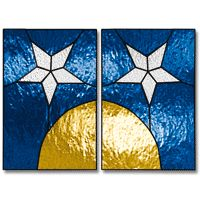 Free+Printable+Stained+Glass+Patterns | Free Pattern, Moon & Star Candle Holder - Glass Crafters Stained Glass ...