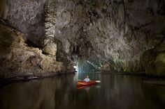 Cave kayaking, Thailand