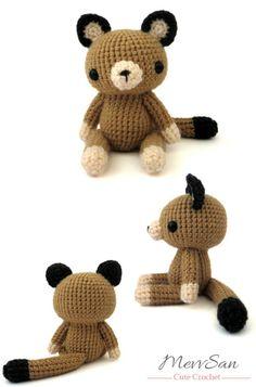 Amigurumi Woodland Critter Cougar crochet pattern by MevvSan.