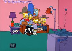 Simpsons (Fox) couch gag Animation Art couch gag of the Simpson Family From Simpsons (Fox)