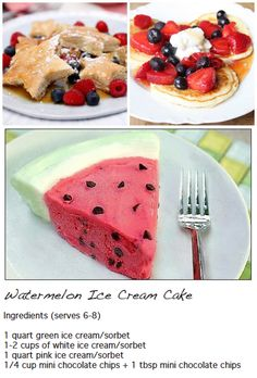Watermelon Ice-Cream Cake