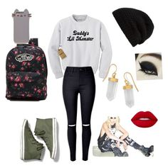 """""""Untitled #35"""" by aubrey-corbett on Polyvore featuring Keds, Vans, Pusheen, Rick Owens, BillyTheTree and Lime Crime"""