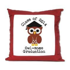 Cute Graduation Owl with mortar board Suede Pillow> Cute graduation owl with mortar board> Victory Ink Tshirts and Gifts