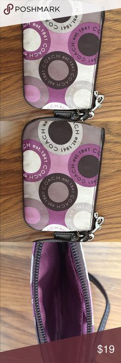 COACH wristlet Worn, fits a cell! Coach Bags Clutches & Wristlets
