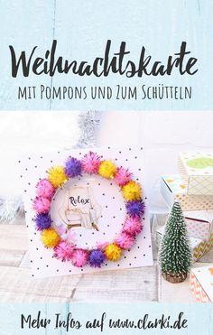 Das DIY und viele andere Ideen findest du in dem neuen eBook: Meine bunte Weihnachtssammlung: Süße Rezepte, Basteln, Dekorieren, kleine Weihnachtsgeschenke und Last-Minute-Ideen von der Kreativ-Autorin Kathleen Lassak.  #diy #selbermachen #weihnachten #advent #weihnachtsmann #winter #schnee #kochen #backen #basteln #kinder #rezepte #werbung Winter Schnee, Last Minute, Bunt, Crochet Hats, Christmas, Pom Poms, Craft Instructions For Kids, Weihnachten, Children Recipes