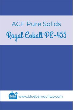 $18 CAD per yard AGF Pure Solids Royal Cobalt PE-455. Premium PIMA Cotton 44″ wide, The purest hues meet Art Gallery Fabrics' soft hand and superior quality. All the solids you have been looking for to match your collections are here! Sold by the 1/4 yard or in Fat Quarters, ships to Canada and USA.  #agfsolids#agfpuresolids #longarmquilting  #ilovequilting#quiltersdream #yegquilter#forsale #fabriclove #canadianquiltshop #sewcanadian #onlinequiltshop #onlinequiltstore #onlinefabricshop Met Art Galleries, Art Gallery Fabrics, Longarm Quilting, Fabric Shop, Superior Quality, Fat Quarters, Cobalt, Quilt Patterns, Ships
