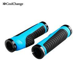 Coolchange Grips Cycling Alluminium Alloy+Rubber Bicycle Grips Mtb Anti-slip Comfortable Bike Grips Mountain Bike Handlebar 30