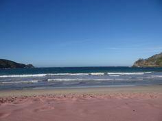 Pink beach in Buzios, Brazil
