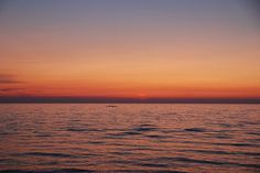 Lake Michigan sunset from Saugatuck's Oval Beach - on a calm evening!