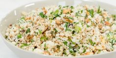 Low-carb and full of flavour, cauliflower rice is great as a side dish or as the base for a stir-fry.