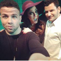 Tadeo con Vicky de Geordie Shore y Wojtek de Warsaw Shore en MTV EMA 2014 en Glasgow el 9 de Noviembre.