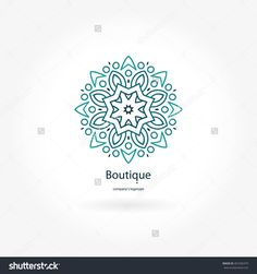 Find Gentle Blue Beautiful Circular Logo Boutique stock images in HD and millions of other royalty-free stock photos, illustrations and vectors in the Shutterstock collection. Simple Mandala, Geometric Mandala, Mandala Design, Mandala Art, Islamic Art Pattern, Pattern Art, Logo Circular, Kreis Logo, Mandala Symbols