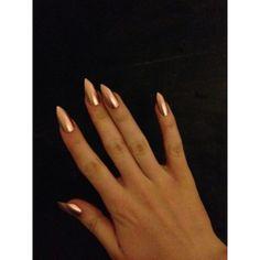 Gold press-on nails, fake nails, false nails, faux nails, acrylic... ❤ liked on Polyvore featuring beauty products, nail care and nail treatments