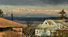 Image result for olympic mountains from seattle Olympic Mountains, Olympics, Seattle, Cabin, House Styles, Image, Home Decor, Homemade Home Decor, Interior Design