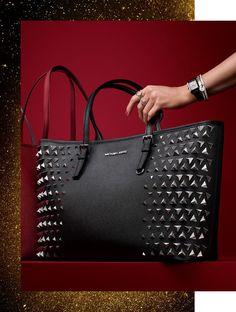 Michael Kors pyramid stud tote handbag design studs fashion
