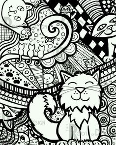 Find This Pin And More On Cat Coloring Pages By Sarah Ritz