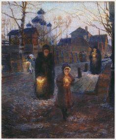 Костанди Кириак Константинович (Россия, 1852-1921) «Страстной четверг на Севере» 1904