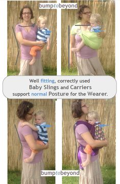 Read more about why babywearing is good for your posture here: http://www.bumptobeyond.com/babywearing-2/is-it-not-sore-on-your-back/