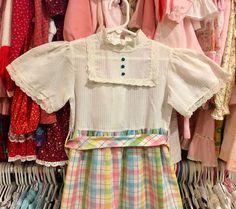 70s Maxi Dress Girls 5/6 by lishyloo on Etsy