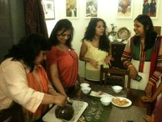 Enjoying the Needle Tea, one of the rarest in the world and grown only in a small estate in Dharmasala in India