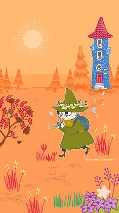 Snufkin Moomin Wallpaper, Iphone Wallpaper, Moomin Valley, Tove Jansson, Little My, Illustrations And Posters, Anime Comics, Fairy Tales, Animation