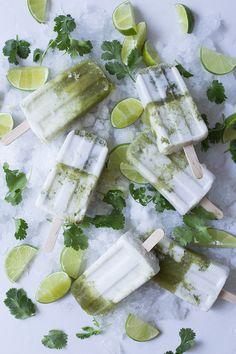 Coconut Lime & Cilantro Paletas
