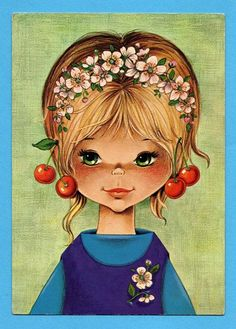 Sarah Kay, Costume Jewelry Crafts, Gif Animé, Book Projects, Project Ideas, Illustrations, Vintage Comics, Cute Images, Vintage Girls