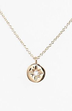 heroine diamond pendant necklace