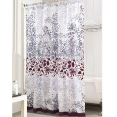 Elegent Purple Abstract Pink Antique Brown Balck/&White Shower Curtain Set Mat