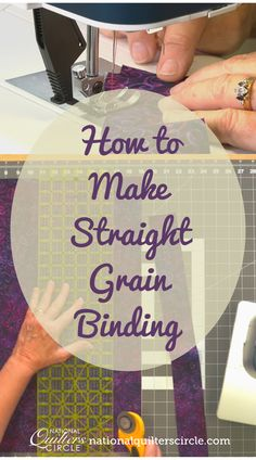 While some quilts, those that are round or have wavy or curved edges, require bias binding- most quilts need straight grain binding. ZJ Humbach shows you how to make straight grain binding and then teaches some of the basics of quilting binding including showing how to calculate how much binding you will need for your quilt. Quilting Frames, Quilting Tips, Quilting Tutorials, Quilting Projects, Sewing Projects, Bias Binding, Quilt Binding, Sewing Tips, Sewing Hacks