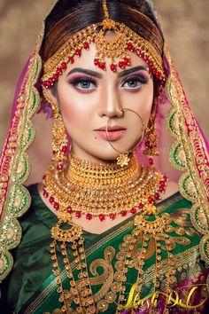Indian Bridal Photos, Indian Bridal Fashion, Bridal Pictures, Bridal Makeup Images, Bridal Makeup Looks, Indian Wedding Bride, Wedding Girl, Bengali Wedding, Beautiful Indian Brides