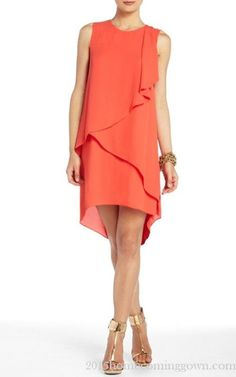 Chiffon Rainer Cascade Short BCBG Cocktail Dress