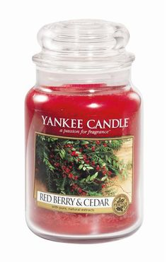 Yankee Candle - Red Berry & Cedar ''Welcome to the season with the delicious holiday aroma of tart red currants and warm cedarwood.'' #YankeeCandle