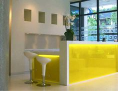 Yellow ikea reception desk ideas consul pinterest for Mueble recepcion ikea