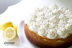 New York Style Lemon Cheesecake