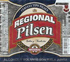 Etiqueta de bebida: Regional Light (Cervecería Regional, Venezuela) Col:VE-BEER-0034