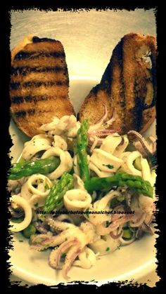 Insalatina tiepida di Totani e Asparagi al profumo di lime