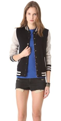 reversible bomber jacket- say what? #gimme