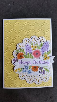 WPlus9 Fresh cut florals Couture Creations doily die and Embossing folder created by Jenn K.